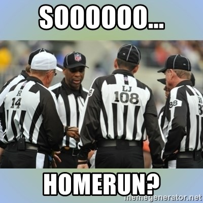 NFL Ref Meeting - soooooo... homerun?