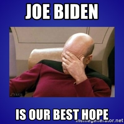 Picard facepalm  - Joe biden is our best hope