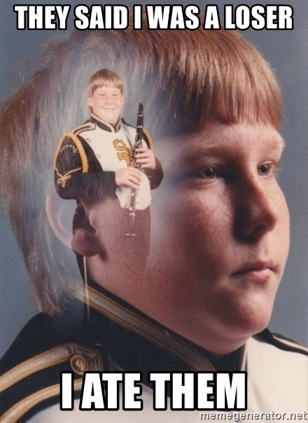 PTSD Clarinet Boy - they said i was a loser I ate them