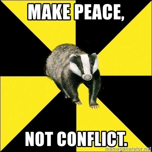 PuffBadger - make peace, not conflict.