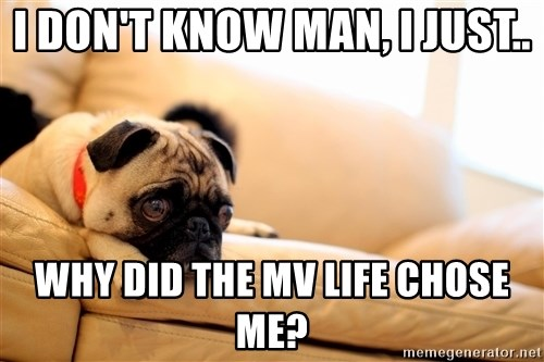 Sorrowful Pug - i don't know man, i just.. why did the mv life chose me?