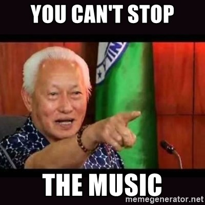 ALFREDO LIM MEME - YOU CAN'T STOP THE MUSIC