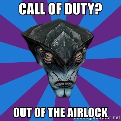 Javik the Prothean - CALL OF DUTY? OUT OF THE AIRLOCK