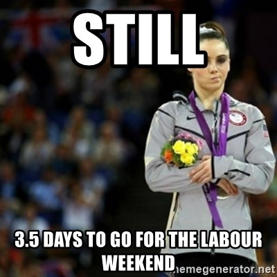 unimpressed McKayla Maroney 2 - Still 3.5 days to go for the Labour weekend