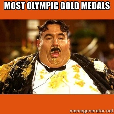Fat Guy - MOST OLYMPIC GOLD MEDALS