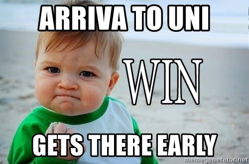 Win Baby - arriva to uni Gets tHere early
