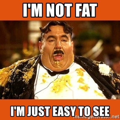 Fat Guy - I'M NOT FAT I'M JUST EASY TO SEE