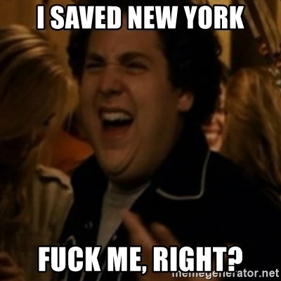 Jonah Hill - I saved new york fuck me, right?
