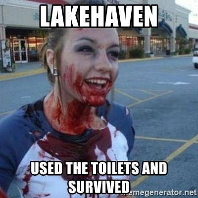 Scary Nympho - Lakehaven used the toilets and survived