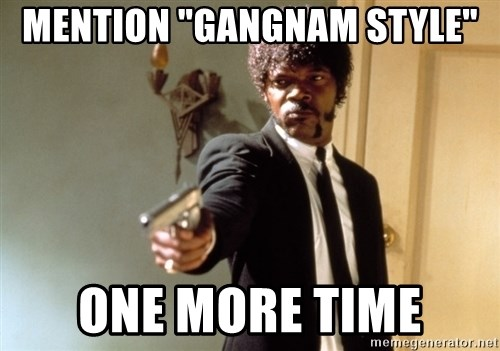 """Samuel L Jackson - mention """"Gangnam style"""" one more time"""