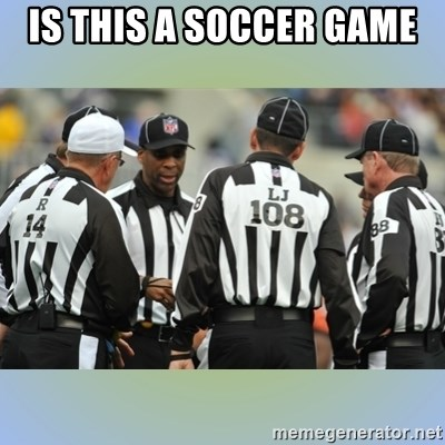 NFL Ref Meeting - IS THIS A SOCCER GAME