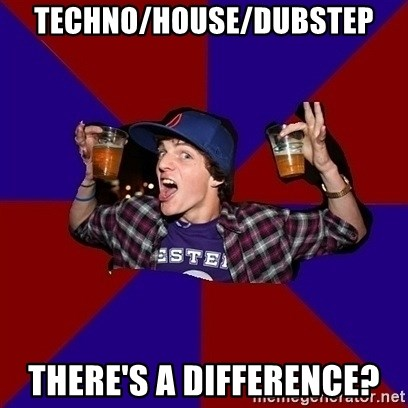 Sunny Student - techno/HOUSE/dubstep there's a difference?