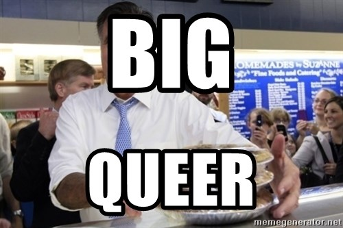 Romney with pies - BIG QUEER