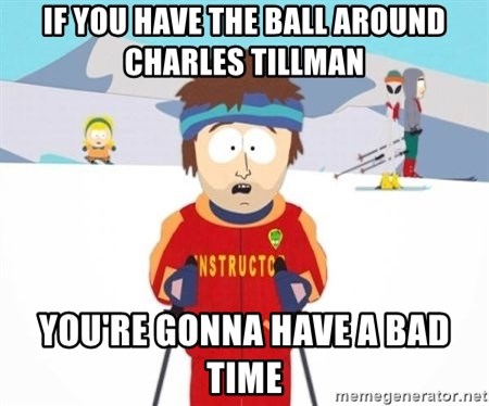South Park Ski Teacher - if you have the ball around Charles Tillman You're gonna have a bad time