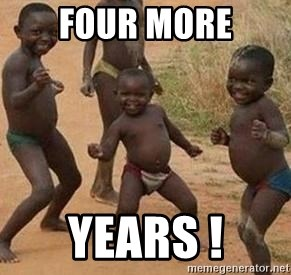 african children dancing - four more years !