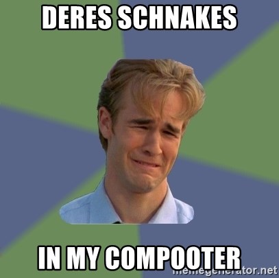 Sad Face Guy - DERES SCHNAKES IN MY COMPOOTER