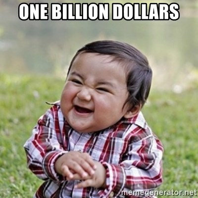 evil toddler kid2 - ONE BILLION DOLLARS