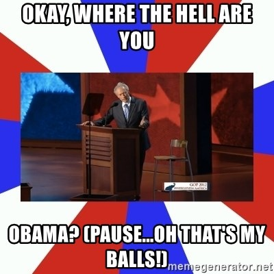 Invisible Obama - OKAY, WHERE THE HELL ARE YOU OBAMA? (PAUSE...OH THAT'S MY BALLS!)
