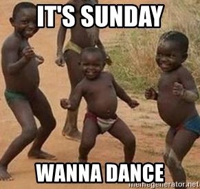 african children dancing - IT'S SUNDAY WANNA DANCE