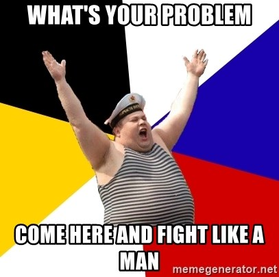 Patriot - WHAT'S YOUR PROBLEM COME HERE AND FIGHT LIKE A MAN