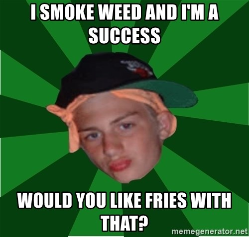 Stonerbro - i smoke weed and i'm a success would you like fries with that?
