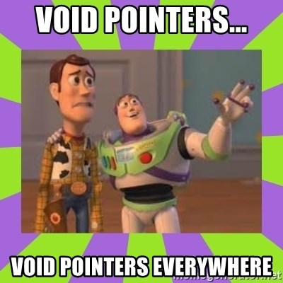 X, X Everywhere  - void pointers... void pointers everywhere