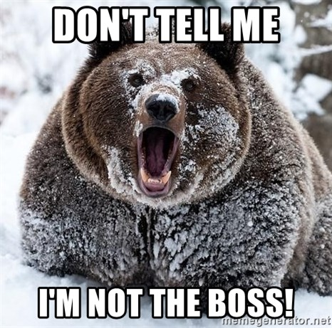 Clean Cocaine Bear - Don't tell me I'm not the boss!