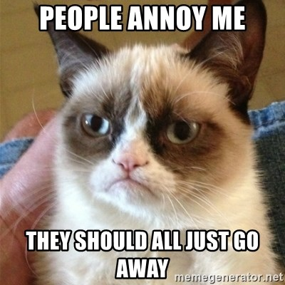 Grumpy Cat  - people annoy me they should all just go away