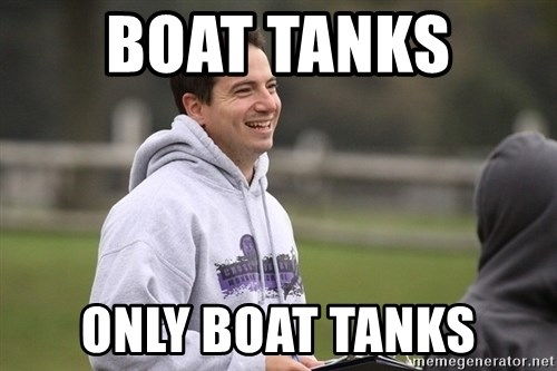 Empty Promises Coach - Boat tanks  Only boat tanks