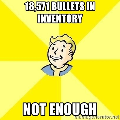 Fallout 3 - 18,571 bullets in inventory not enough
