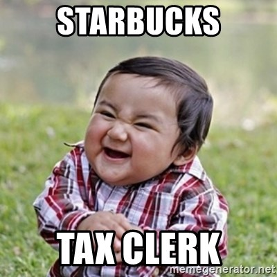evil toddler kid2 - starbucks tax clerk