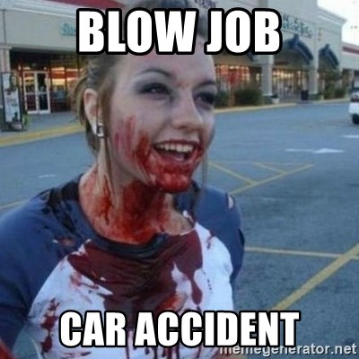 Scary Nympho - Blow Job CAR accident