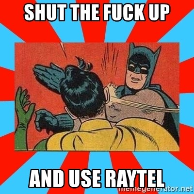 Batman Bitchslap - SHUT THE FUCK UP and use raytel