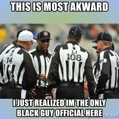 NFL Ref Meeting - this is most akward i just realized im the only black guy official here
