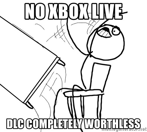 Desk Flip Rage Guy - no xbox live dlc completely worthless