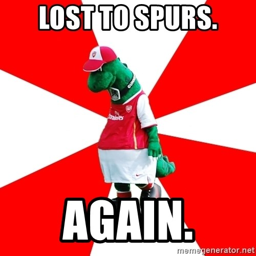Arsenal Dinosaur - Lost To Spurs. AGAIN.