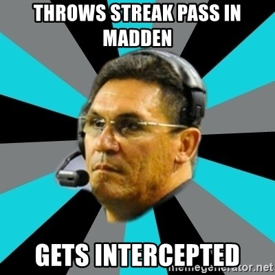 Stoic Ron - Throws streak pass in madden Gets intercepted