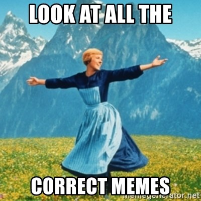 Sound Of Music Lady - LOOK AT ALL THE CORRECT MEMES