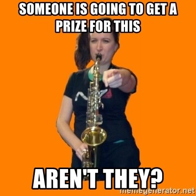SaxGirl - Someone is going to get a prize for this Aren't they?