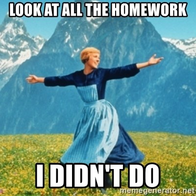 Sound Of Music Lady - LOOK AT ALL THE HOMEWORK I DIDN'T DO