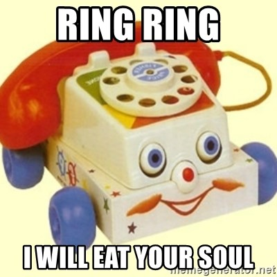 Sinister Phone - RING RING I WILL EAT YOUR SOUL