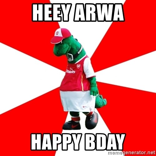Arsenal Dinosaur - HEEY ARWA HAPPY BDAY