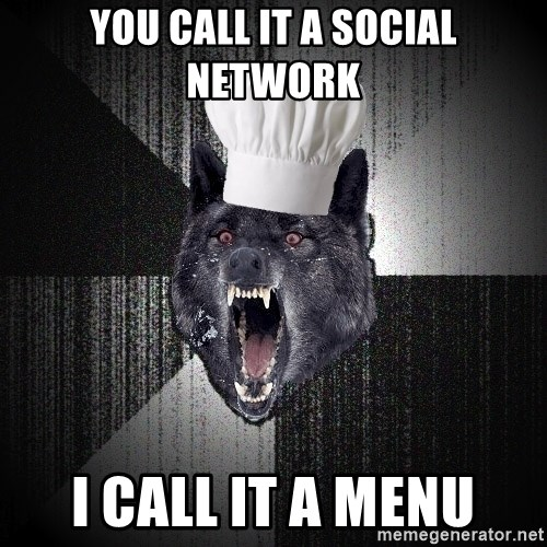 Insanity Wolf - you call it a social network i call it a menu