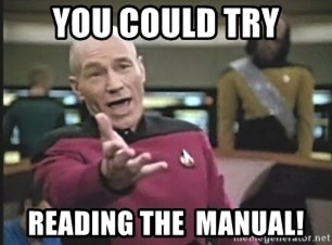 Picard Wtf - you could try reading the  manual!