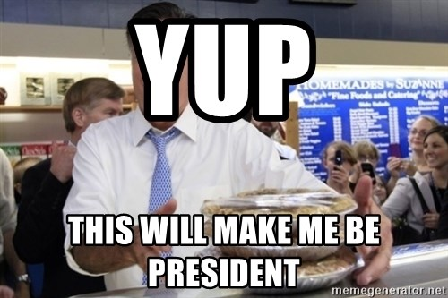 Romney with pies - yup this will make me be president