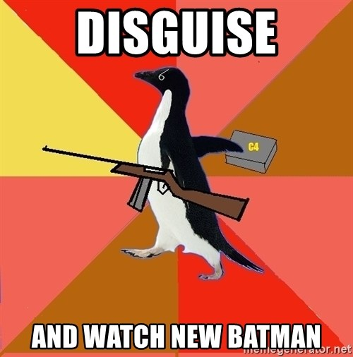 Socially Fed Up Penguin - Disguise And watch new batman