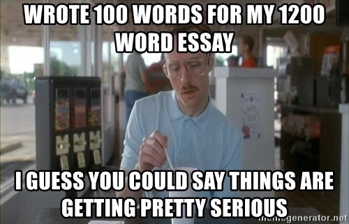 wrote words for my word essay i guess you could say serious kip wrote 100 words for my 1200 word essay i guess you could say