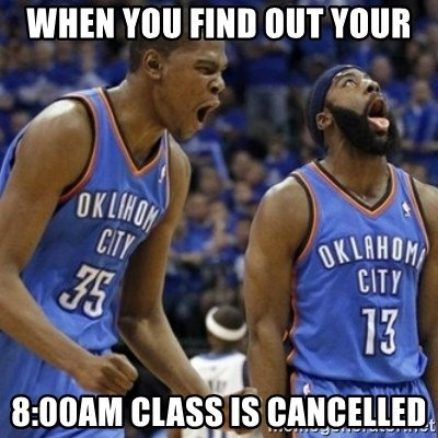 Kd & James Harden - when you find out your 8:00am class is cancelled