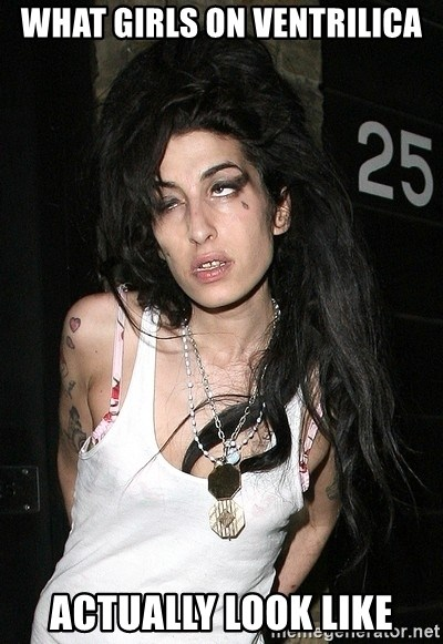 Amy Winehouse - what girls on ventrilica actually look like