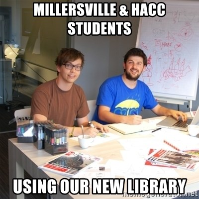 Naive Junior Creatives - Millersville & HACC students using our new library